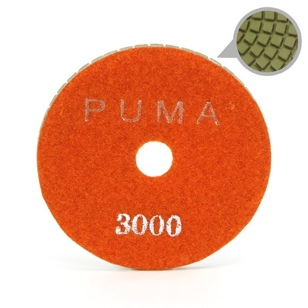 Smoothing Pad Diamond Resin - 100mm - 3000 grit - Orange