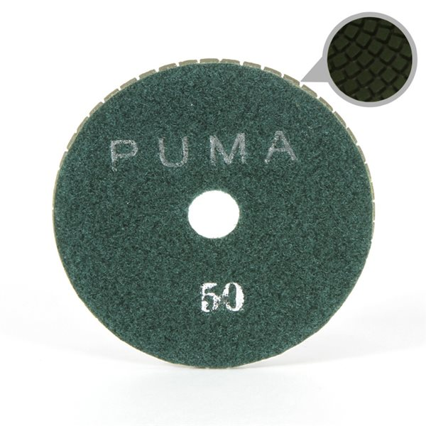 Smoothing Pad Diamond Resin - 100mm - 50 grit - Green