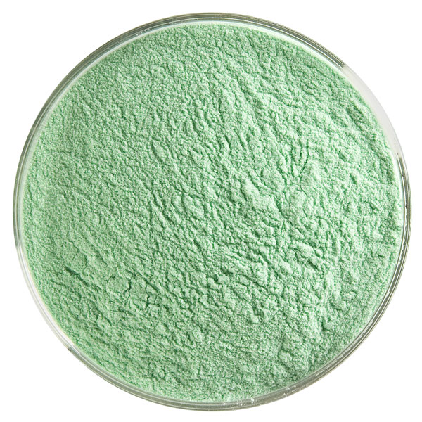 Bullseye Frit - Kelly Green - Powder - 450g - Transparent