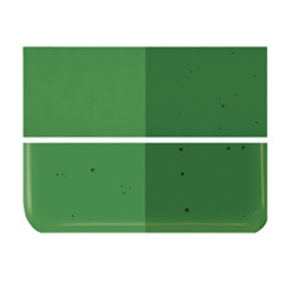 Bullseye Kelly Green - Transparent - 2mm - Thin Rolled - Fusing Glas Tafeln