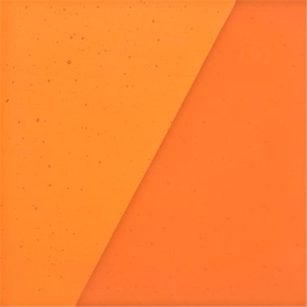 Uroboros Tangerine - Transparent - 3mm - Fusible Glass Sheets
