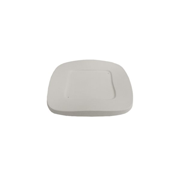 Square Wavy Plate - 21.8x21.8x2cm - Base: cm - Fusing Mould
