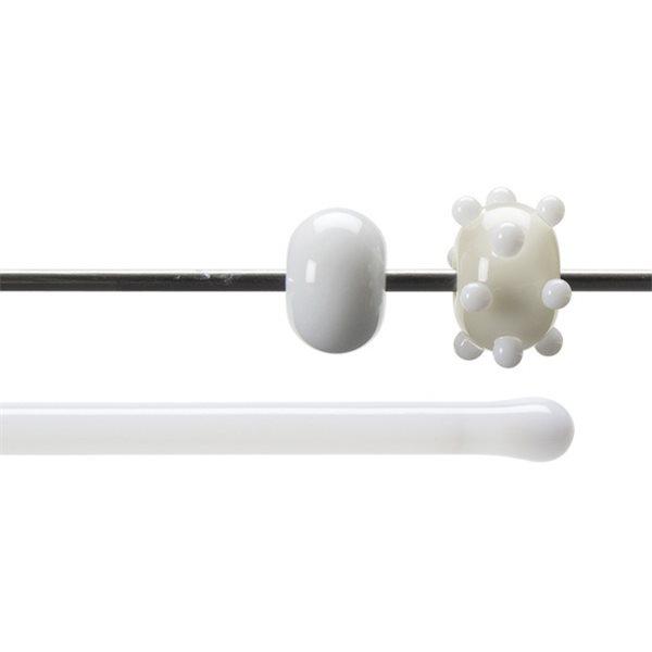 Bullseye Rods - Dense White - 4-6mm - Opalescent