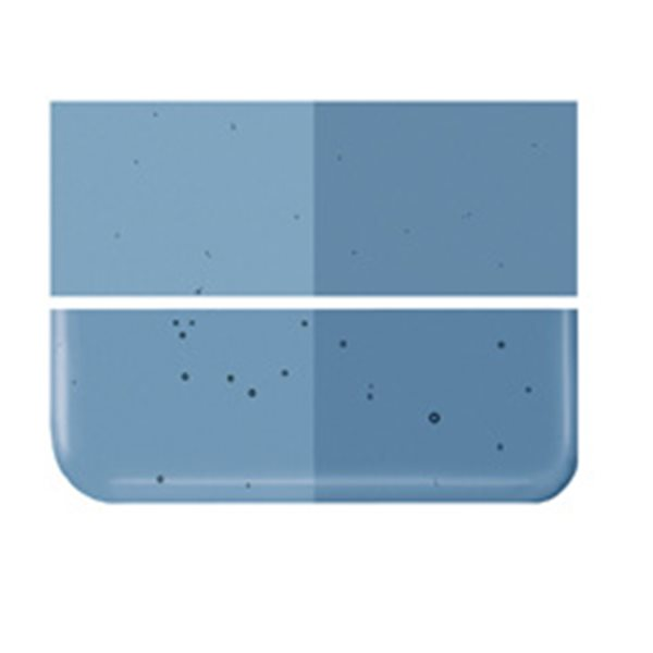 Bullseye Steel Blue - Transparent - 2mm - Thin Rolled - Fusing Glas Tafeln