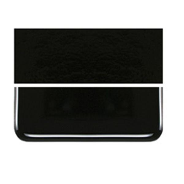 Bullseye Stiff Black - Opalescent - 3mm - Fusible Glass Sheets
