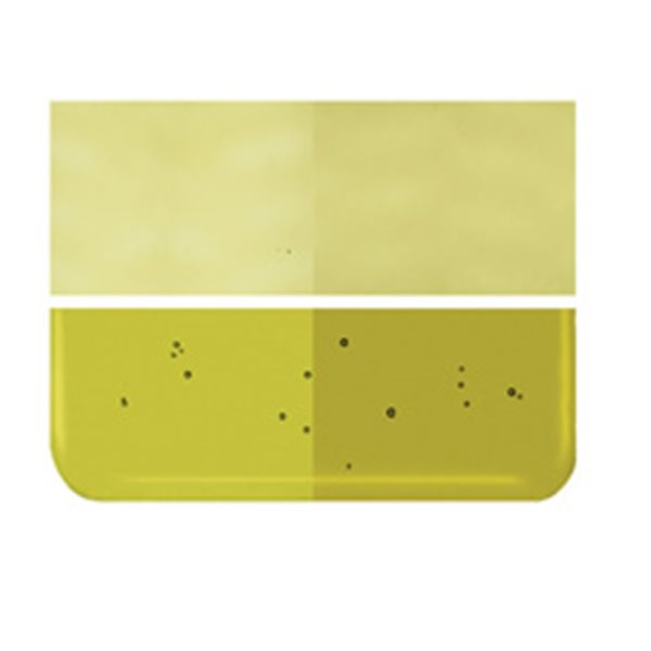 Bullseye Chartreuse - Transparent - 2mm - Thin Rolled - Fusing Glas Tafeln