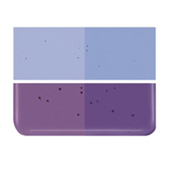 Bullseye Violet Striker - Transparent - 2mm - Thin Rolled - Fusing Glas Tafeln