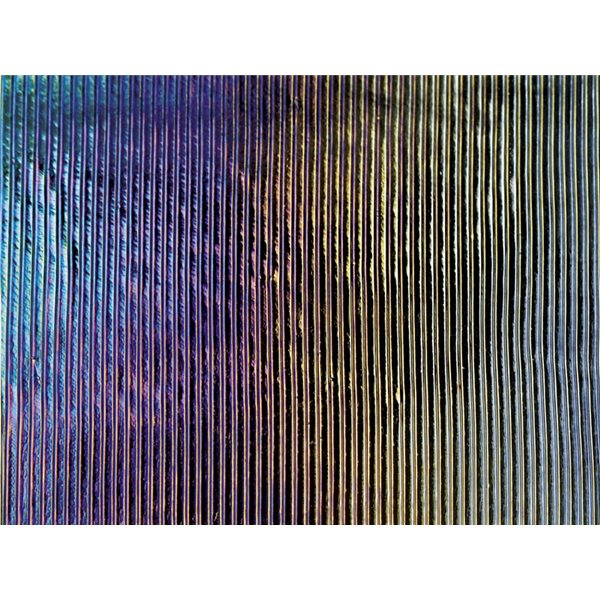 Bullseye Black - Opalescent - Prismatic Texture Iridescent - 3mm - Fusible Glass Sheets