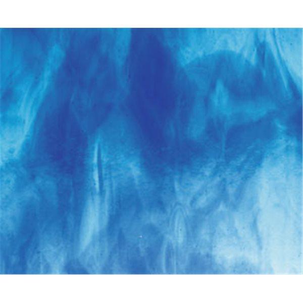 Bullseye Turquoise Blue - Deep Royal Blue 2 Color Mix - 3mm - Fusible Glass Sheets