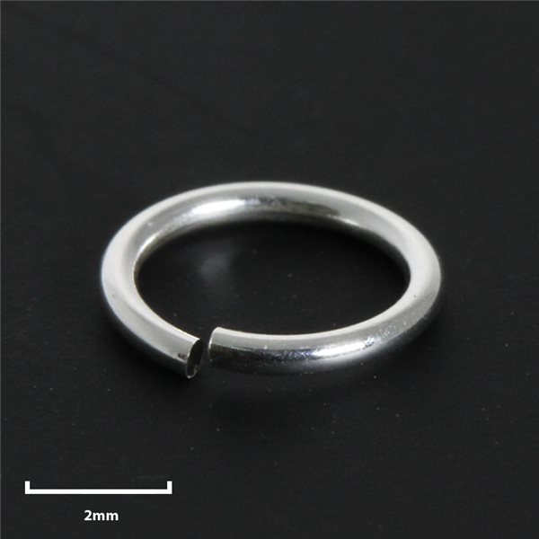 Round Jump Ring - Silver 925 - 5mm - 50pcs