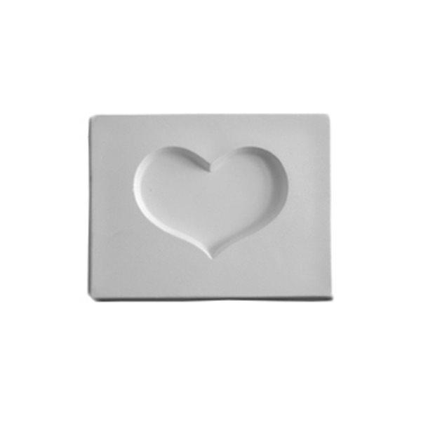 Heart - 10.6x8.1x1.3cm - Öffnung: 6.5x4.8cm - Fusing Form