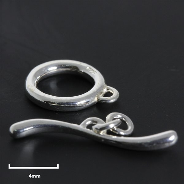 Toggle Clasp - Silver 925 - 3pcs