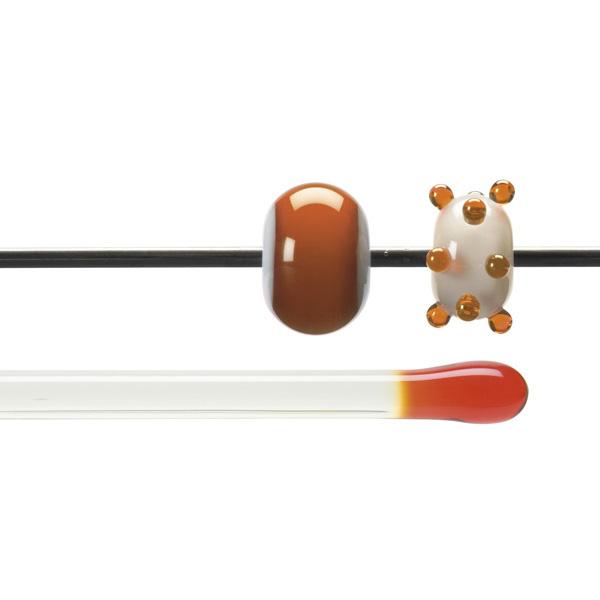 Bullseye Rods - Orange - 4-6mm - Transparent