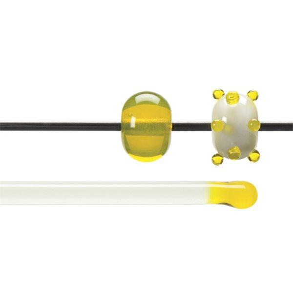 Bullseye Rods - Yellow - 4-6mm - Transparent
