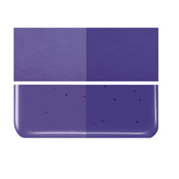 Bullseye Gold Purple - Transparent - 2mm - Thin Rolled - Fusing Glas Tafeln