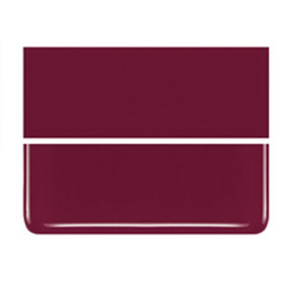 Bullseye Deep Red - Opalescent - 3mm - Fusible Glass Sheets