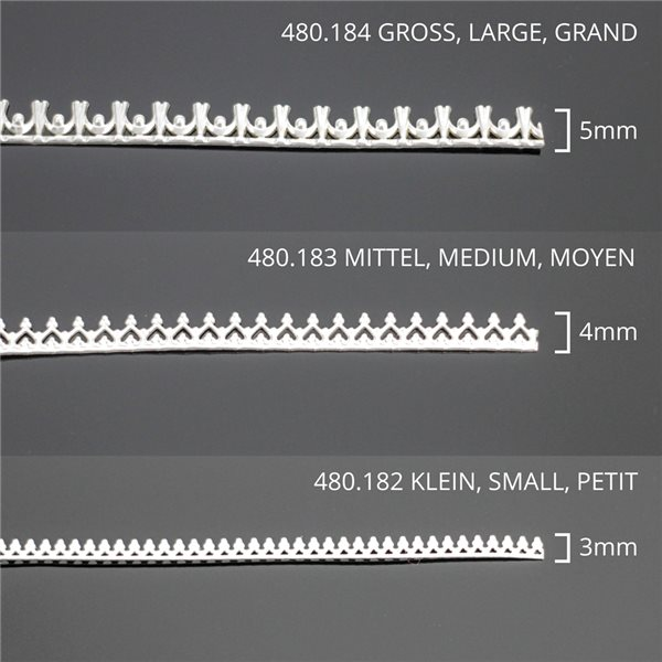 Argent Sterling - Fil Dentelle - Moyen - 30cm