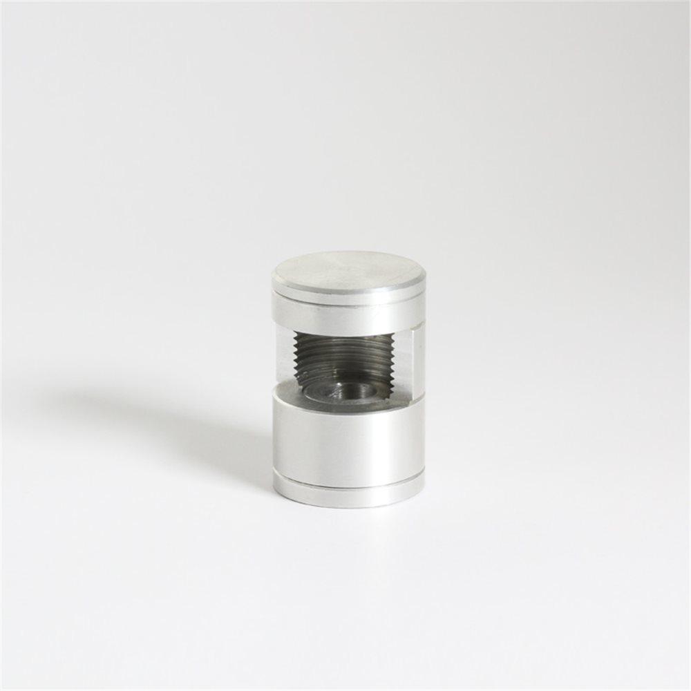 Wallfittings Aluminium - D:30mm - upto 14mm Glassthickness - 1 pc
