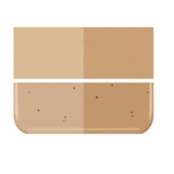 Bullseye Tan - Transparent - 2mm - Thin Rolled - Fusing Glas Tafeln