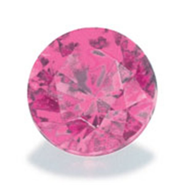 Cubic Zirconia - Pink - Round - 6mm - 5pcs