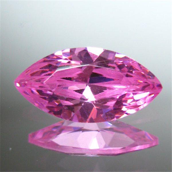 Cubic Zirconia - Pink - Marquise - 5x2.5mm - 5pcs