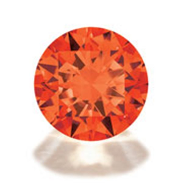 Cubic Zirconia - Orange - Round - 3mm - 10pcs