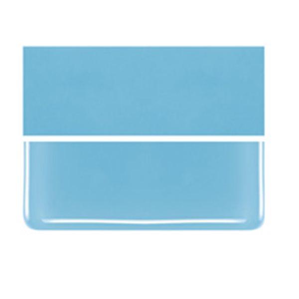 Bullseye Light Cyan - Opalescent - 3mm - Fusible Glass Sheets