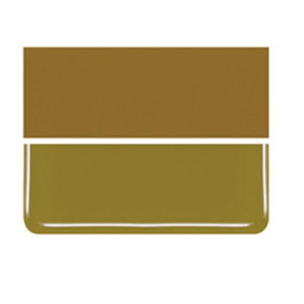 Bullseye Golden Green - Opalescent - 3mm - Fusible Glass Sheets