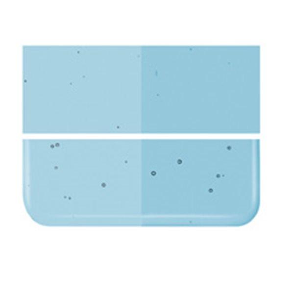 Bullseye Light Turquoise Blue - Transparent - 3mm - Fusing Glas Tafeln
