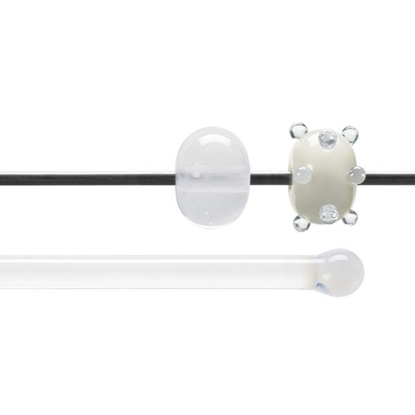 Bullseye Rods - Translucent White - 4-6mm - Opalescent
