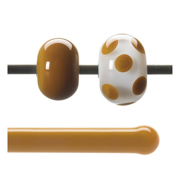 Bullseye Rods - Butterscotch - 4-6mm - Opalescent
