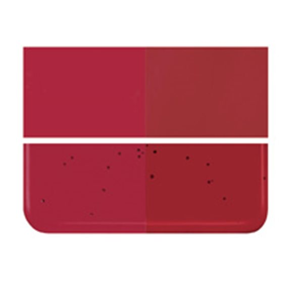 Bullseye Garnet Red - Transparent - 2mm - Thin Rolled - Fusing Glas Tafeln