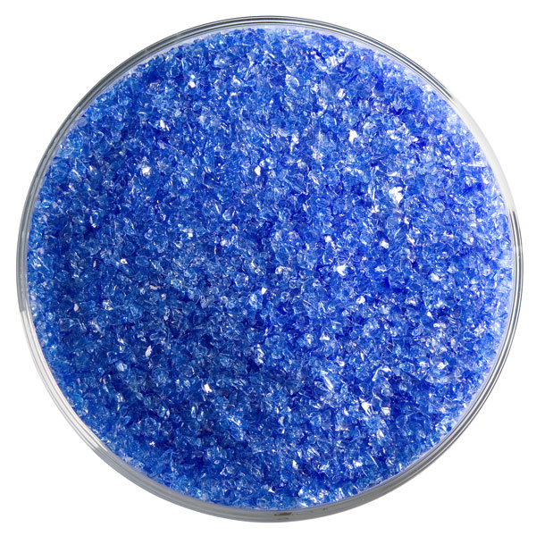 Bullseye Frit - True Blue - Medium - 450g - Transparent