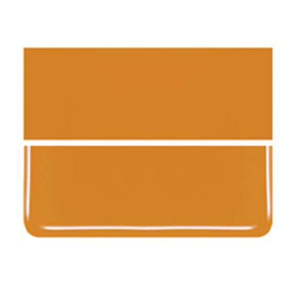 Bullseye Tangerine Orange - Opalescent - 2mm - Thin Rolled - Fusible Glass Sheets