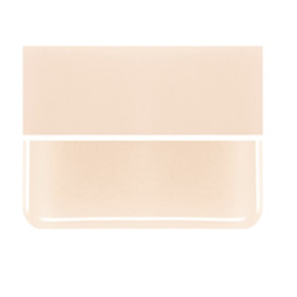 Bullseye Light Peach Cream - Opalescent - 2mm - Thin Rolled - Fusible Glass Sheets