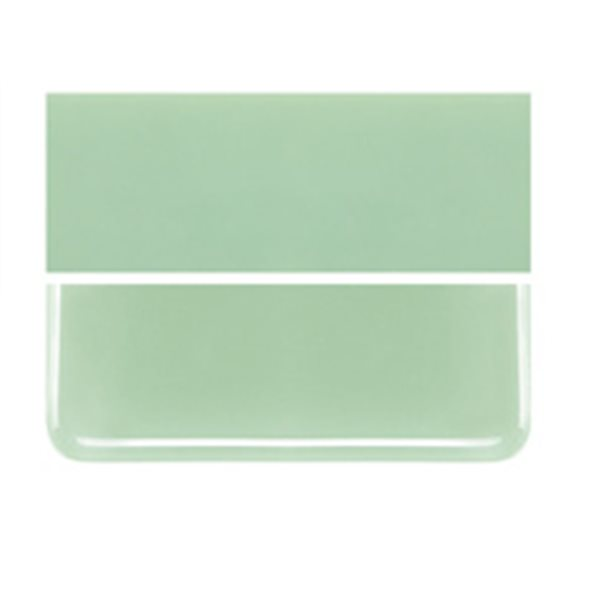 Bullseye Mint Green - Opalescent - 2mm - Thin Rolled - Fusible Glass Sheets