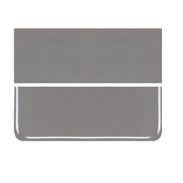 Bullseye Deco Gray - Opalescent - 2mm - Thin Rolled - Fusible Glass Sheets