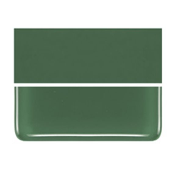Bullseye Dark Forest Green - Opalescent - 2mm - Thin Rolled - Fusible Glass Sheets