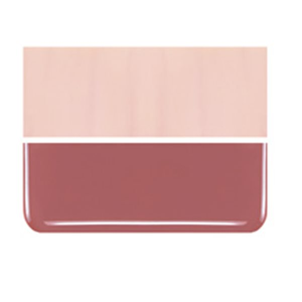 Bullseye Salmon Pink - Opalescent - 2mm - Thin Rolled - Fusible Glass Sheets
