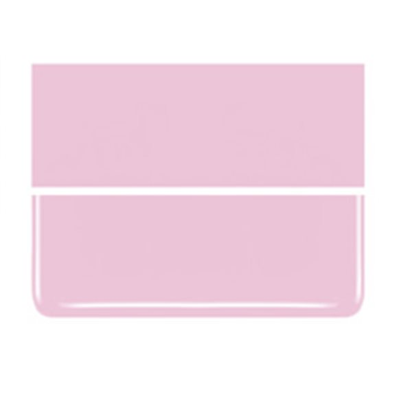 Bullseye Petal Pink - Opalescent - 2mm - Thin Rolled - Fusible Glass Sheets