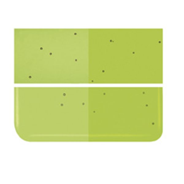 Bullseye Fern Green - Transparent - 2mm - Thin Rolled - Fusing Glas Tafeln