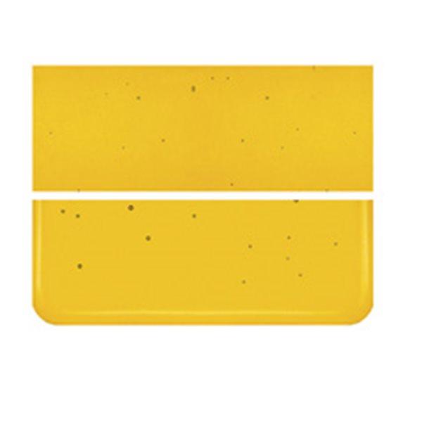 Bullseye Marigold Yellow - Transparent - 2mm - Thin Rolled - Fusing Glas Tafeln