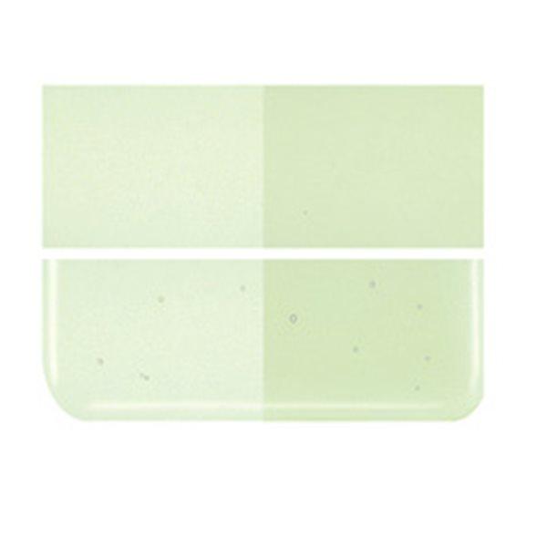 Bullseye Pale Green - Transparent - 2mm - Thin Rolled - Fusing Glas Tafeln