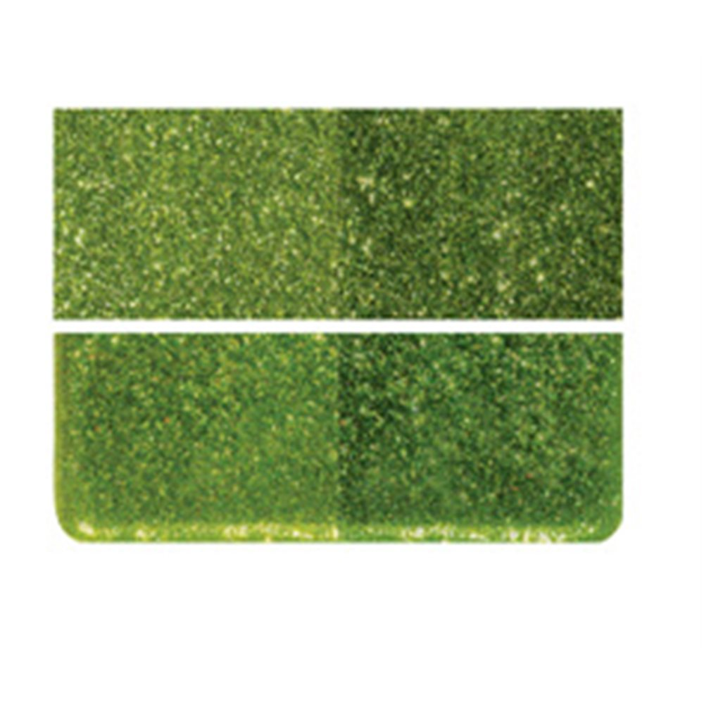 Bullseye Light Aventurine Green - Transparent - 2mm - Thin Rolled - Fusing Glas Tafeln