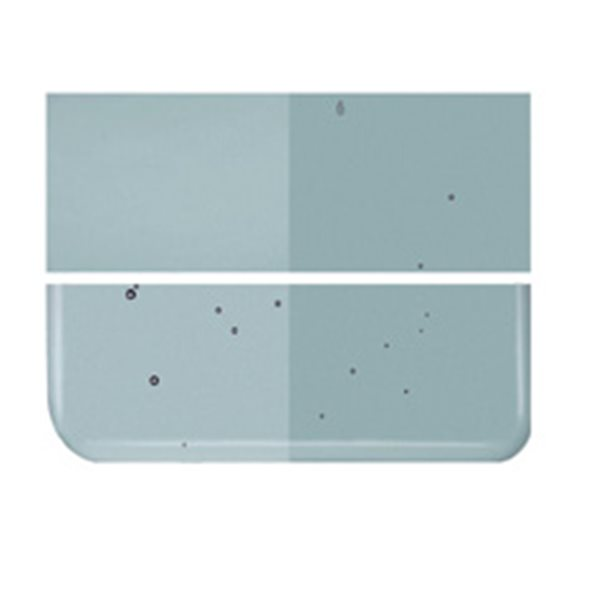 Bullseye Sea Blue - Transparent - 2mm - Thin Rolled - Fusing Glas Tafeln