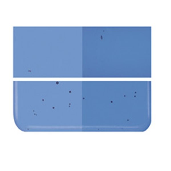 Bullseye True Blue - Transparent - 2mm - Thin Rolled - Fusing Glas Tafeln