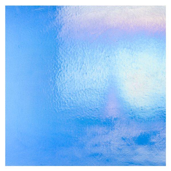 Bullseye True Blue - Transparent - Rainbow Iridescent - 3mm - Fusible Glass Sheets