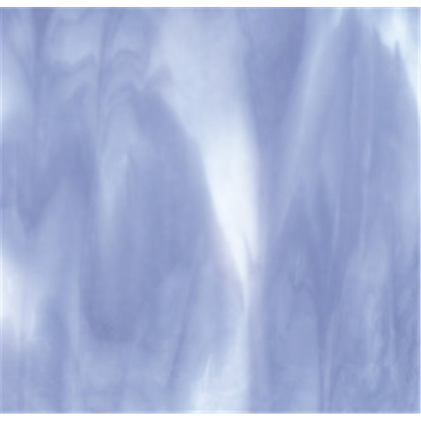 Bullseye White - Lavender Blue Opal 2 Color Mix - 3mm - Single Rolled - Fusible Glass Sheets