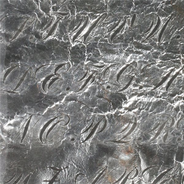 Feuille d`Argent - Bank Script - 10x10cm
