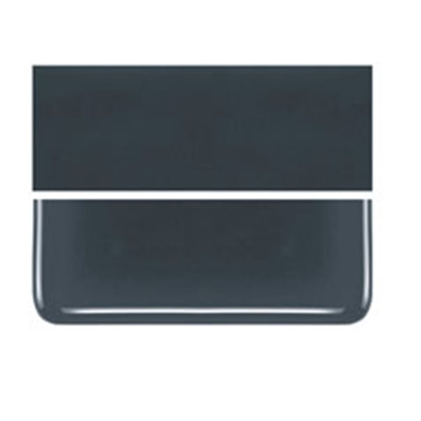 Bullseye Deep Gray - Opalescent - 3mm - Fusible Glass Sheets